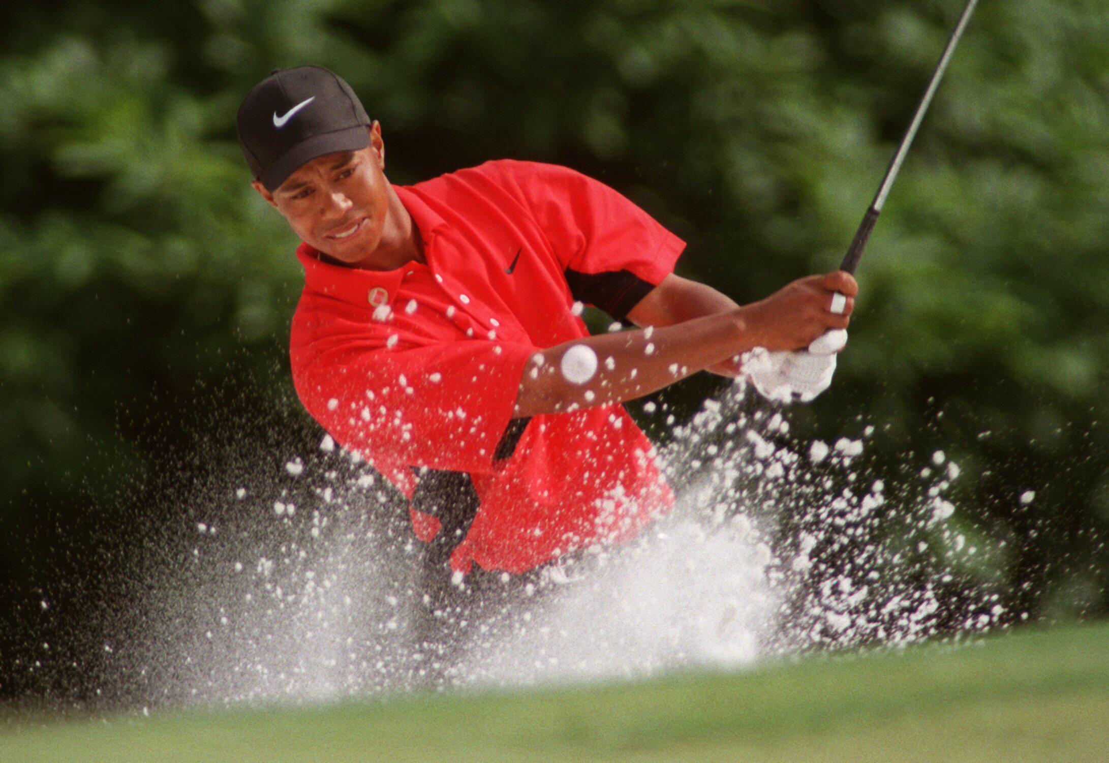 Bild zu Tiger Woods, Augusta, Masters, 1997, Bunker, US Masters