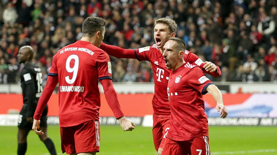 Bayern, Bundesliga, Müller, Lewandowski, Ribéry, Frankfurt
