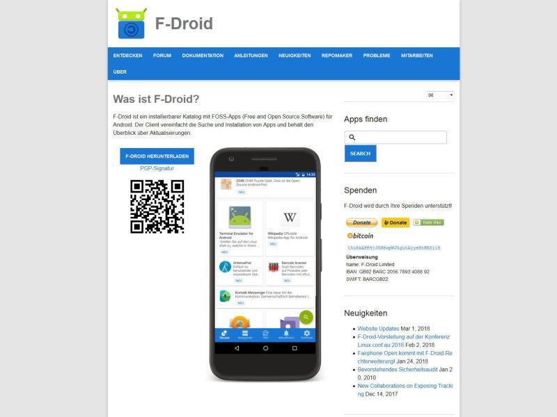 Bild zu Android-Apps von F-Droid