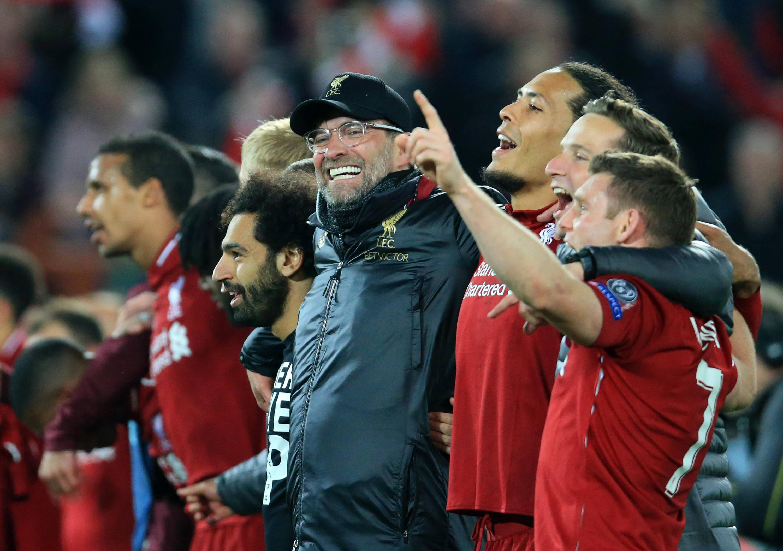 Bild zu FC Liverpool, FC Barcelona, Champions League, Halbfinale, Jürgen Klopp, You'll never walk alone