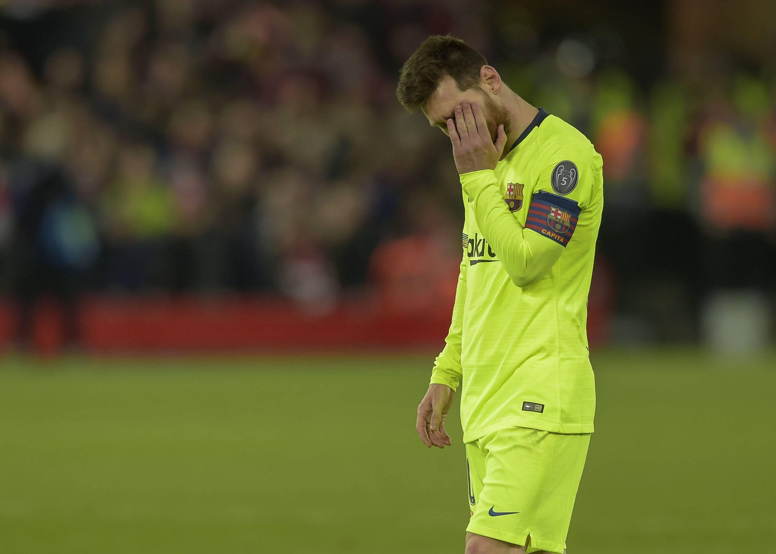 Bild zu FC Liverpool, FC Barcelona, Champions League, Halbfinale, Lionel Messi, Enttäuschung