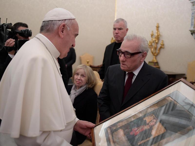 Bild zu Papst Franziskus + Martin Scorsese