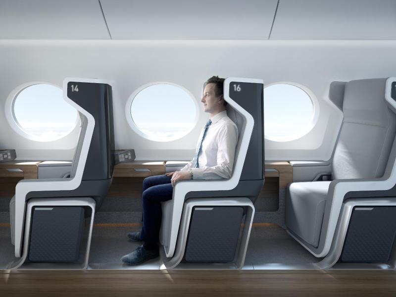 Bild zu Innenraum des Boom-Flugzeugs