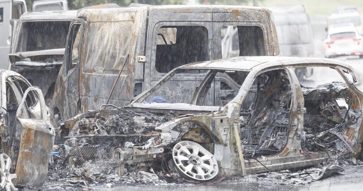 Geldtransporter bei Lausanne überfallen und in Brand gesteckt | GMX.CH