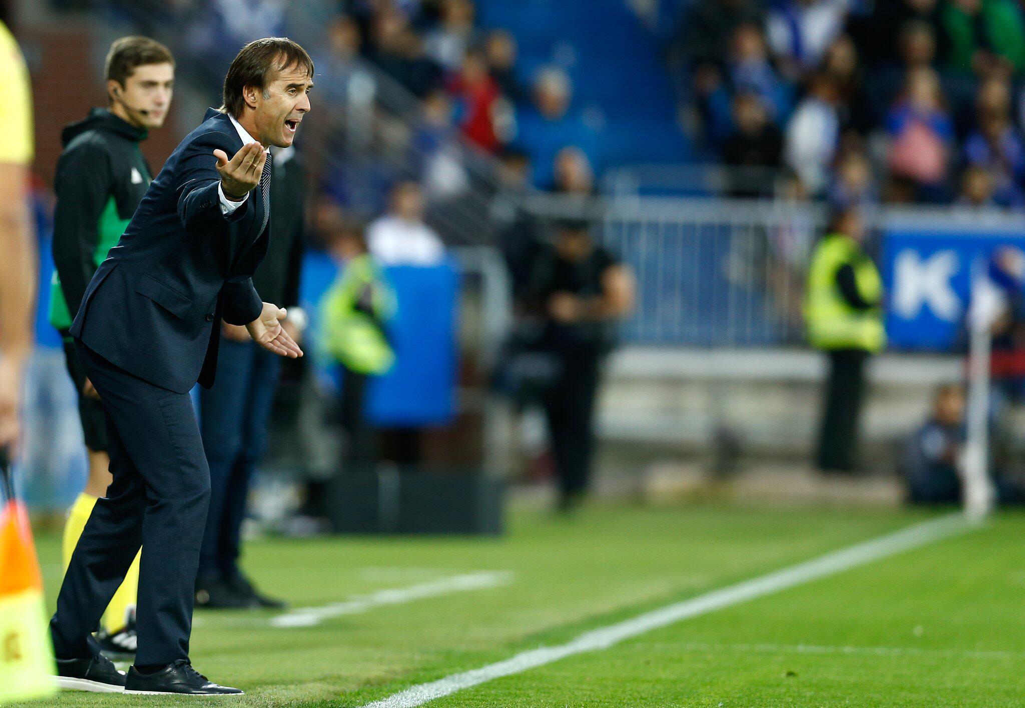 Bild zu CD Alaves - Real Madrid 1:0, Primera Division, La Liga, Julen Lopetegui