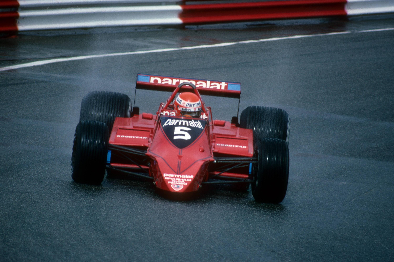 Bild zu Niki Lauda in seinem Brabham Alfa Romeo
