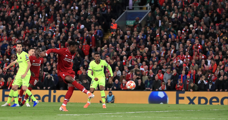 Bild zu FC Liverpool, FC Barcelona, Champions League, Halbfinale, Tor, Divock Origi