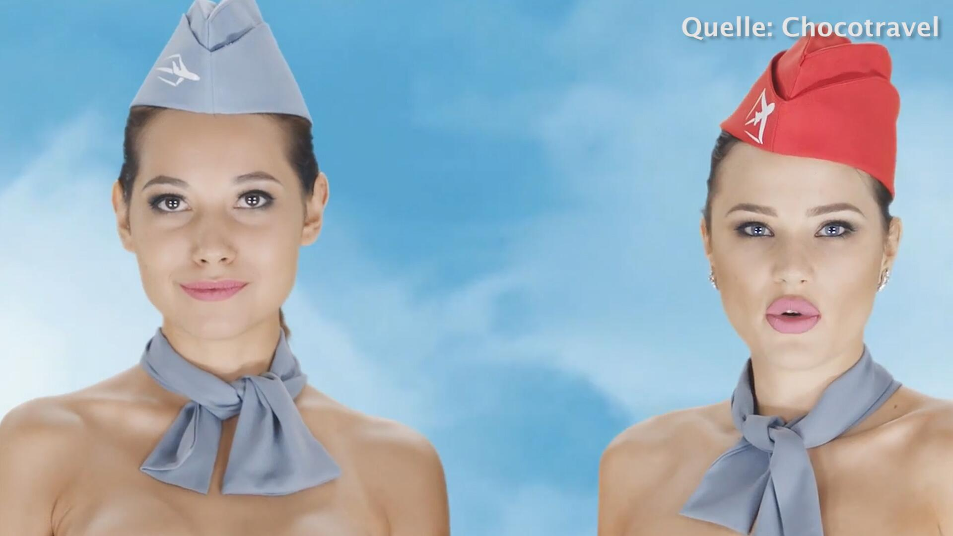 Bild zu Skandal: Kasachisches Reiseportal wirbt mit nackten Stewardessen