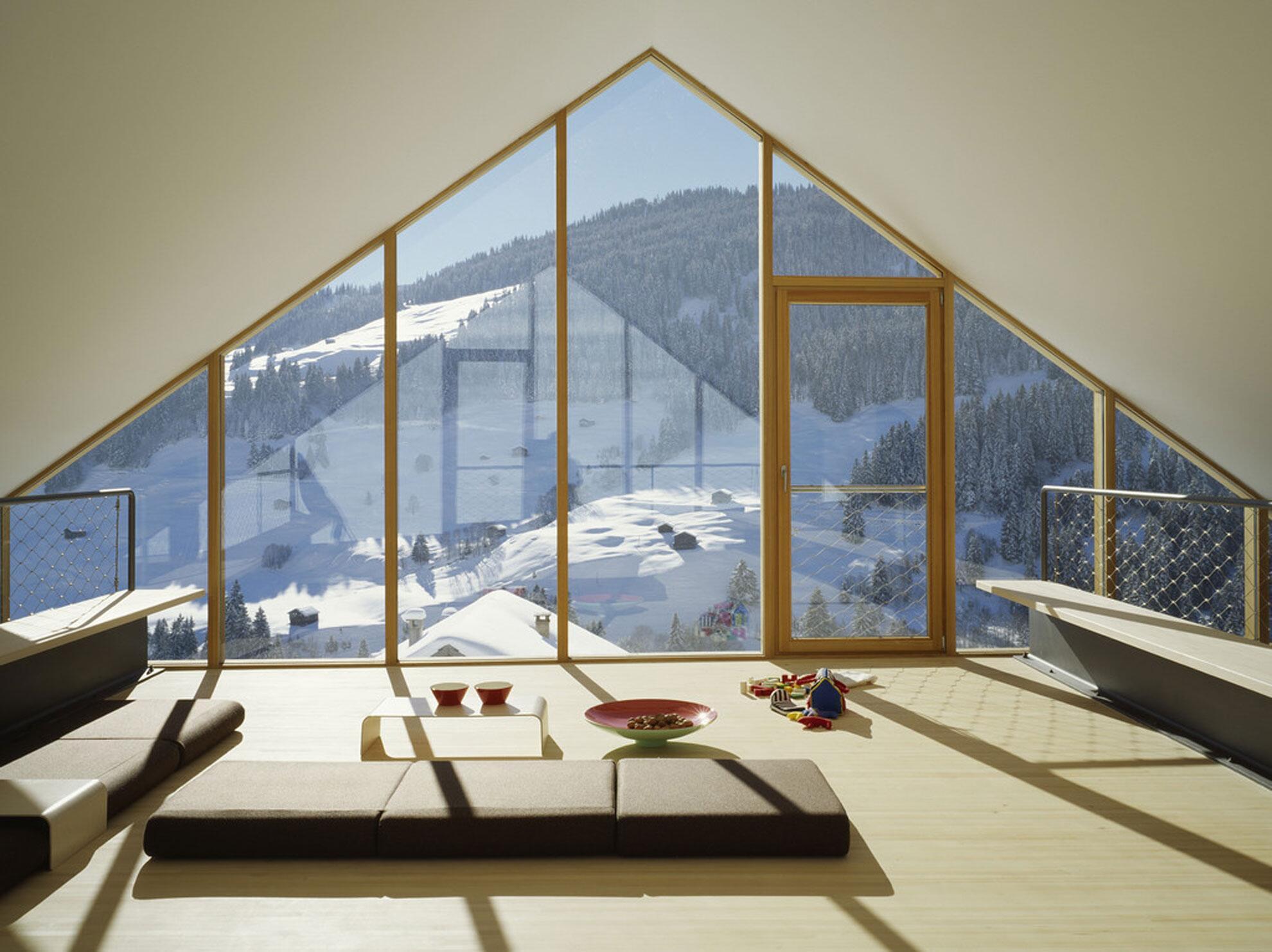 Bild Zu Panoramablick Schweizer Schneelandschaft