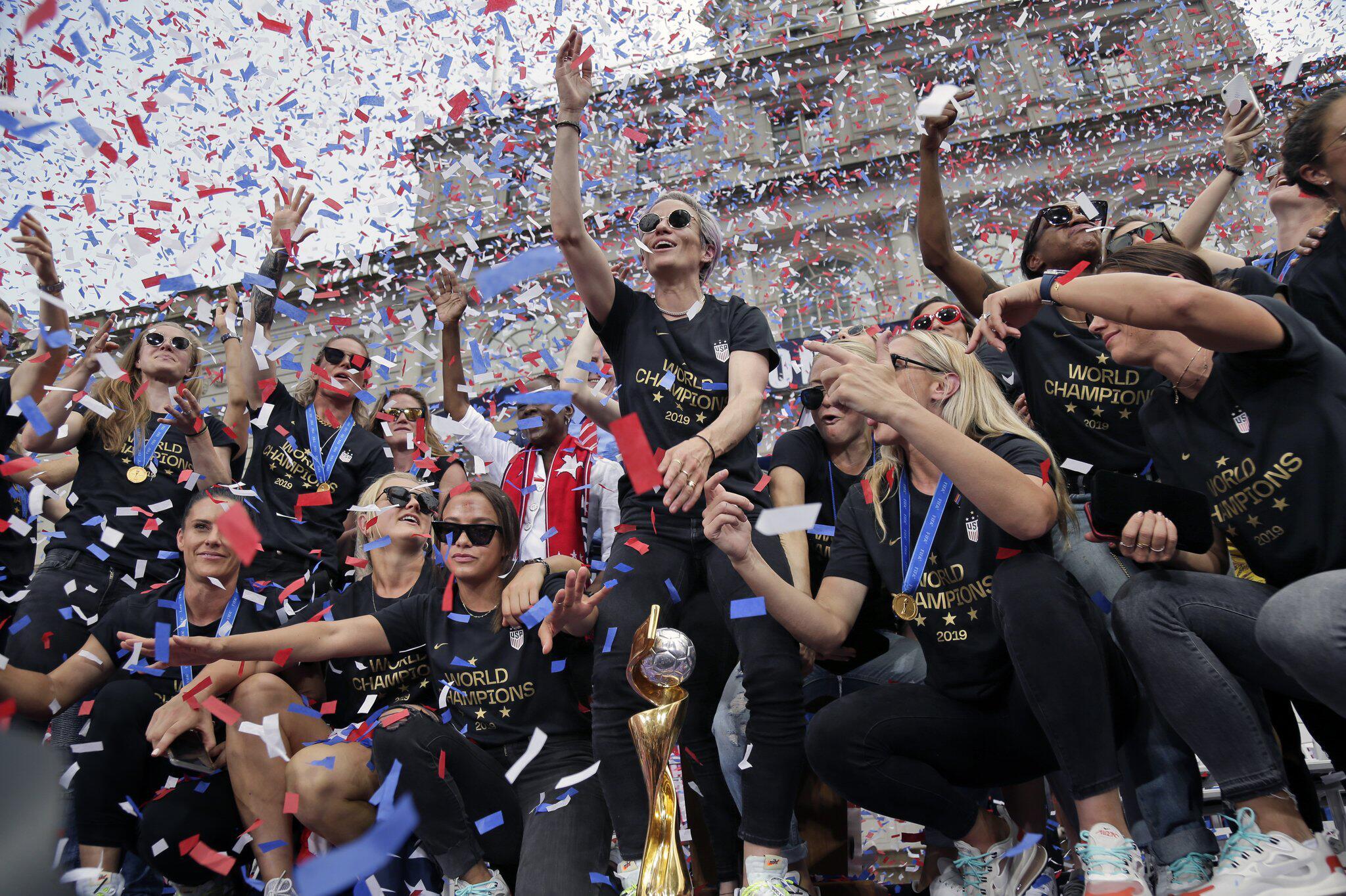 Bild zu Fussball-Weltmeisterinnen in New York