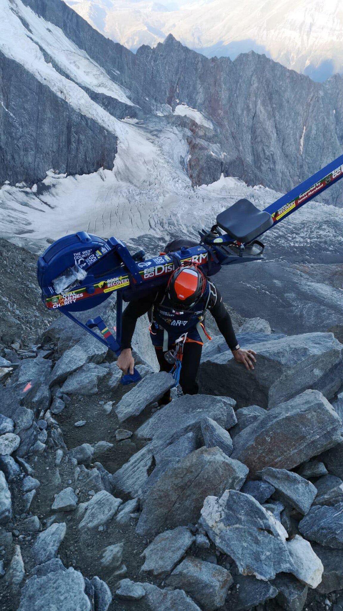 Bild zu Zurückgelassene Rudermaschine sorgt für Ärger am Mont Blanc