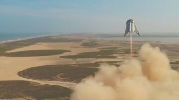 Bild zu Starthopper Raumfahrzeugs