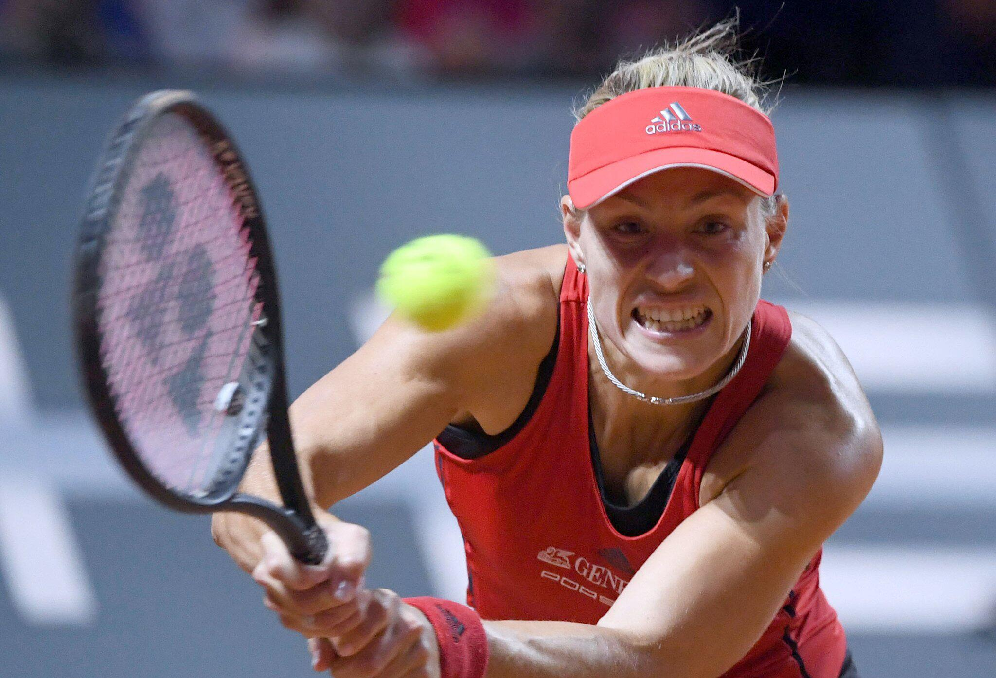 Bild zu Tennis, WTA-Tour, Stuttgart, Angelique Kerber, Anett Kontaveit, Achtelfinale