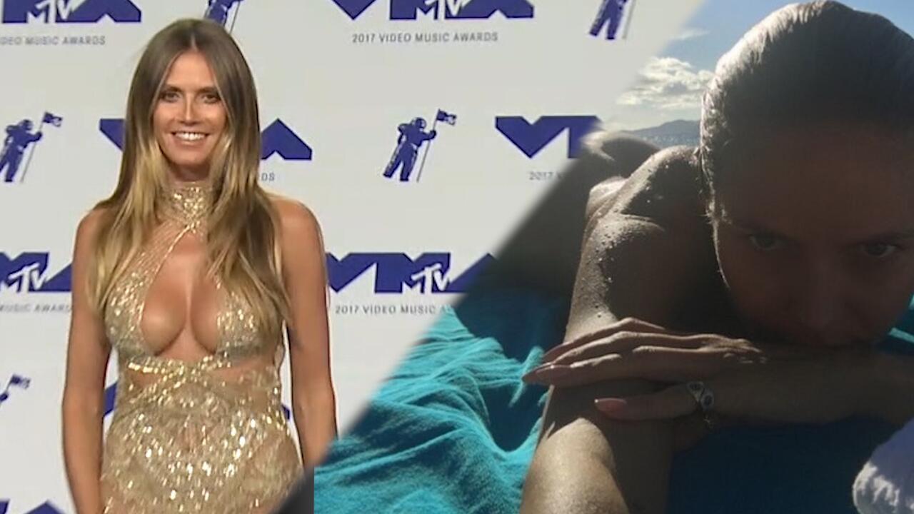Bild zu Nackt-Attacke: Heidi Klum zieht blank