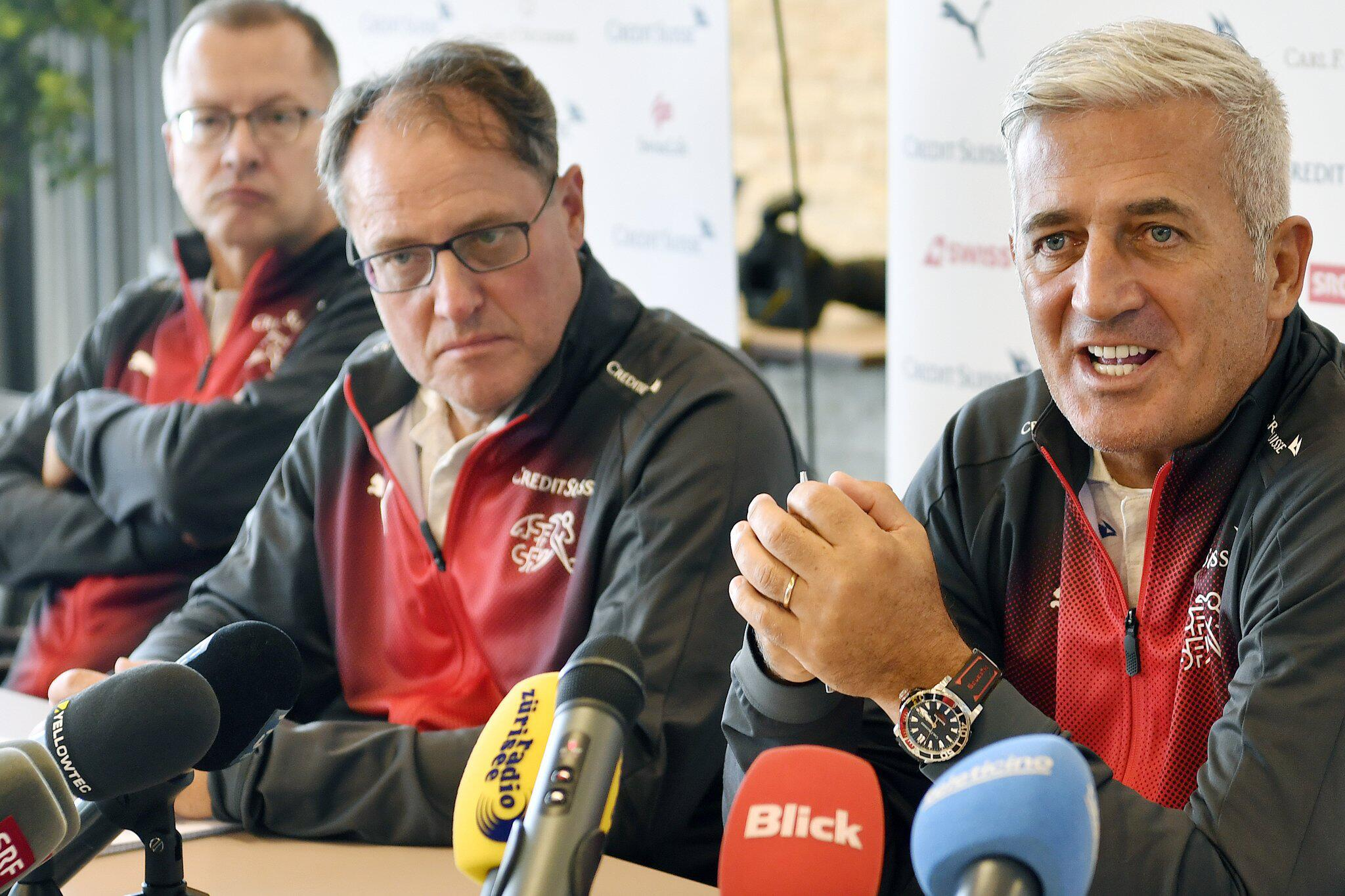 Bild zu Pk Nationalmannschaft Schweiz