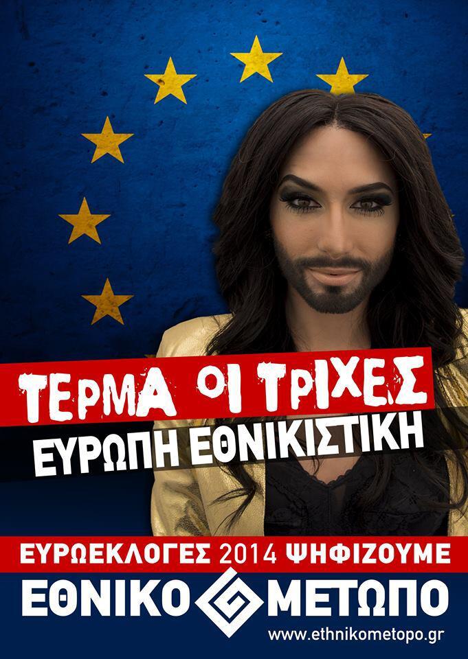 Bild zu Conchita Wurst als Werbegesicht einer rechten Partei