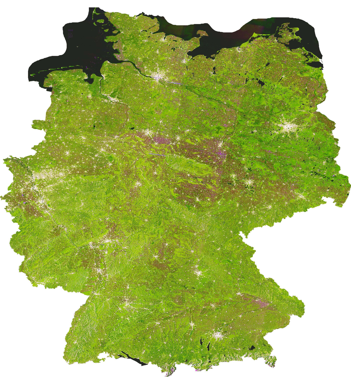 Bild zu Deutschland als Produkt des Sentinel-1 TimeScans