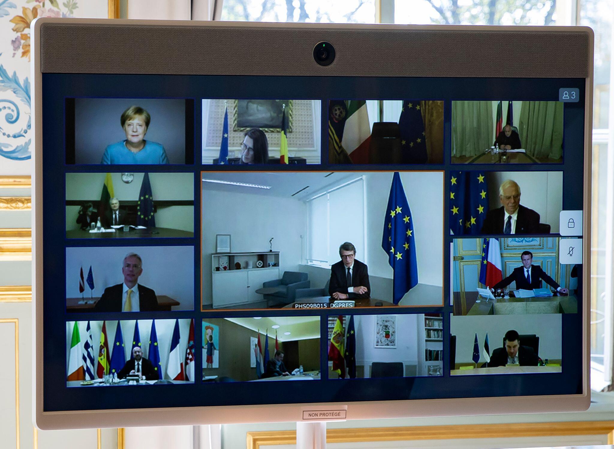 Bild zu Coronavirus - EU-Videogipfel