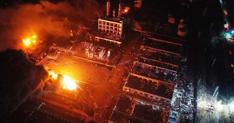 Explosion im Chemiepark in China