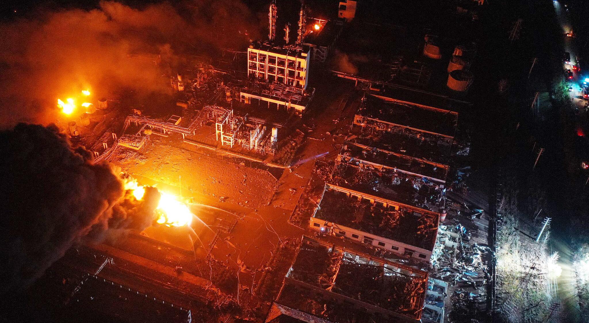 Bild zu Explosion im Chemiepark in China