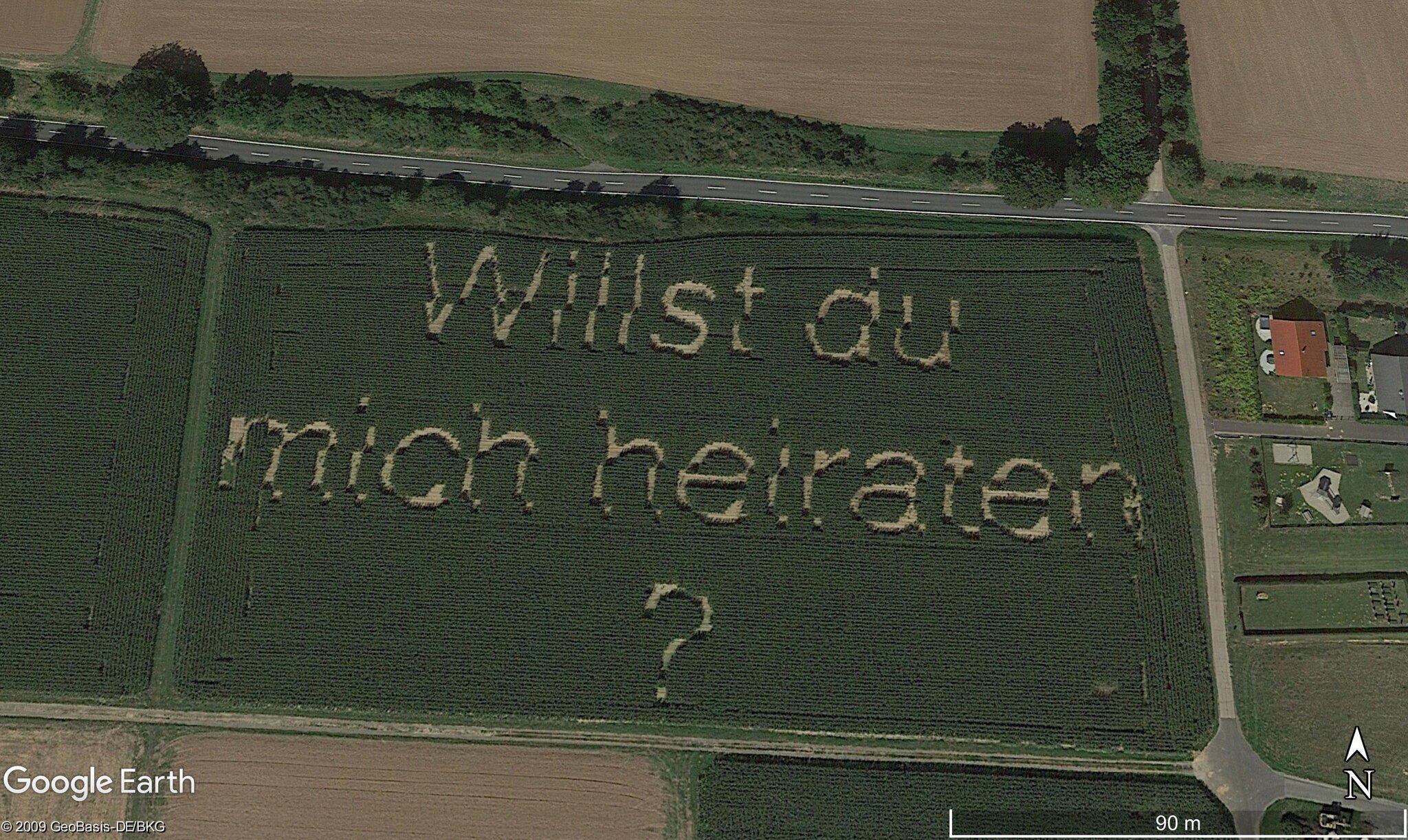Bild zu Heiratsantrag wird Landmarke bei Google Maps