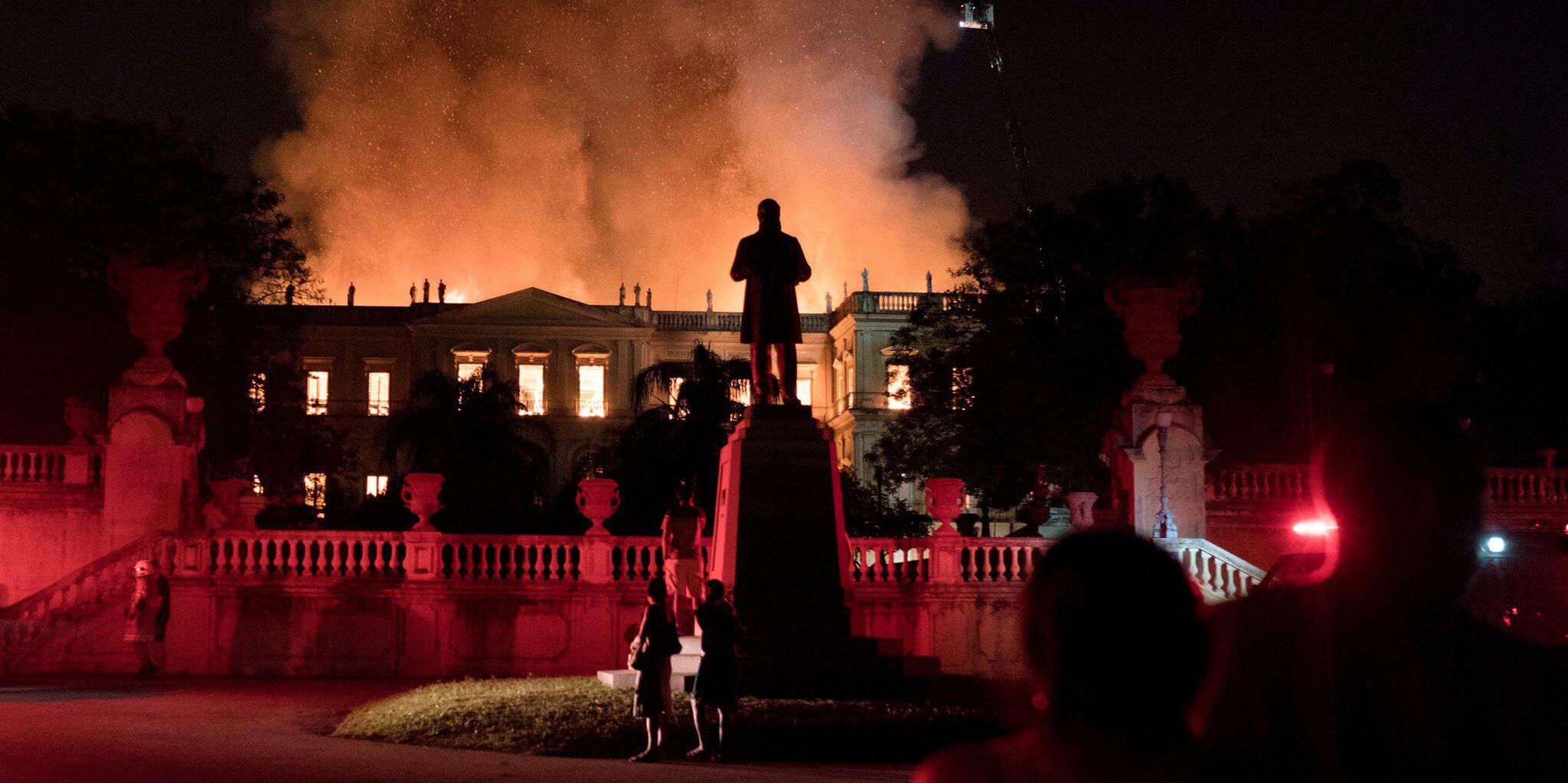 Bild zu Grossbrand Nationalmuseum in Rio