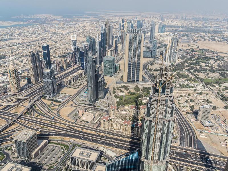 Bild zu Blick vom Burj Khalifa in Dubai