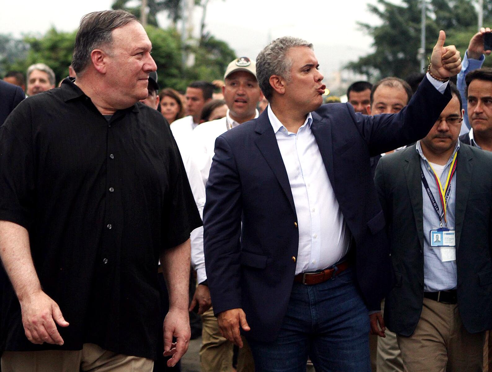 Bild zu US-Aussenminister in Kolumbien