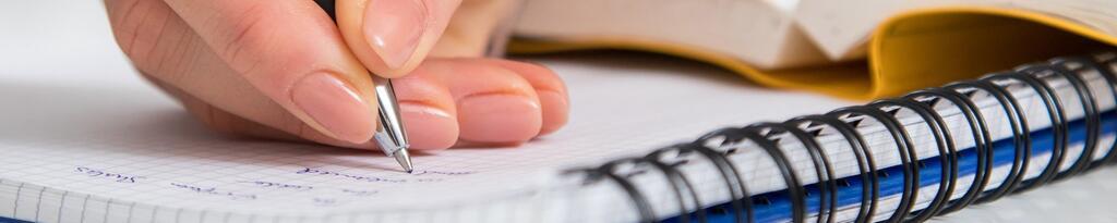 Mit der Hand schreiben
