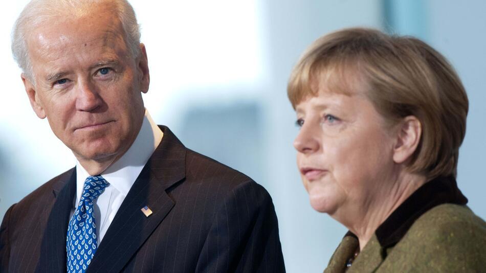 Biden und Merkel