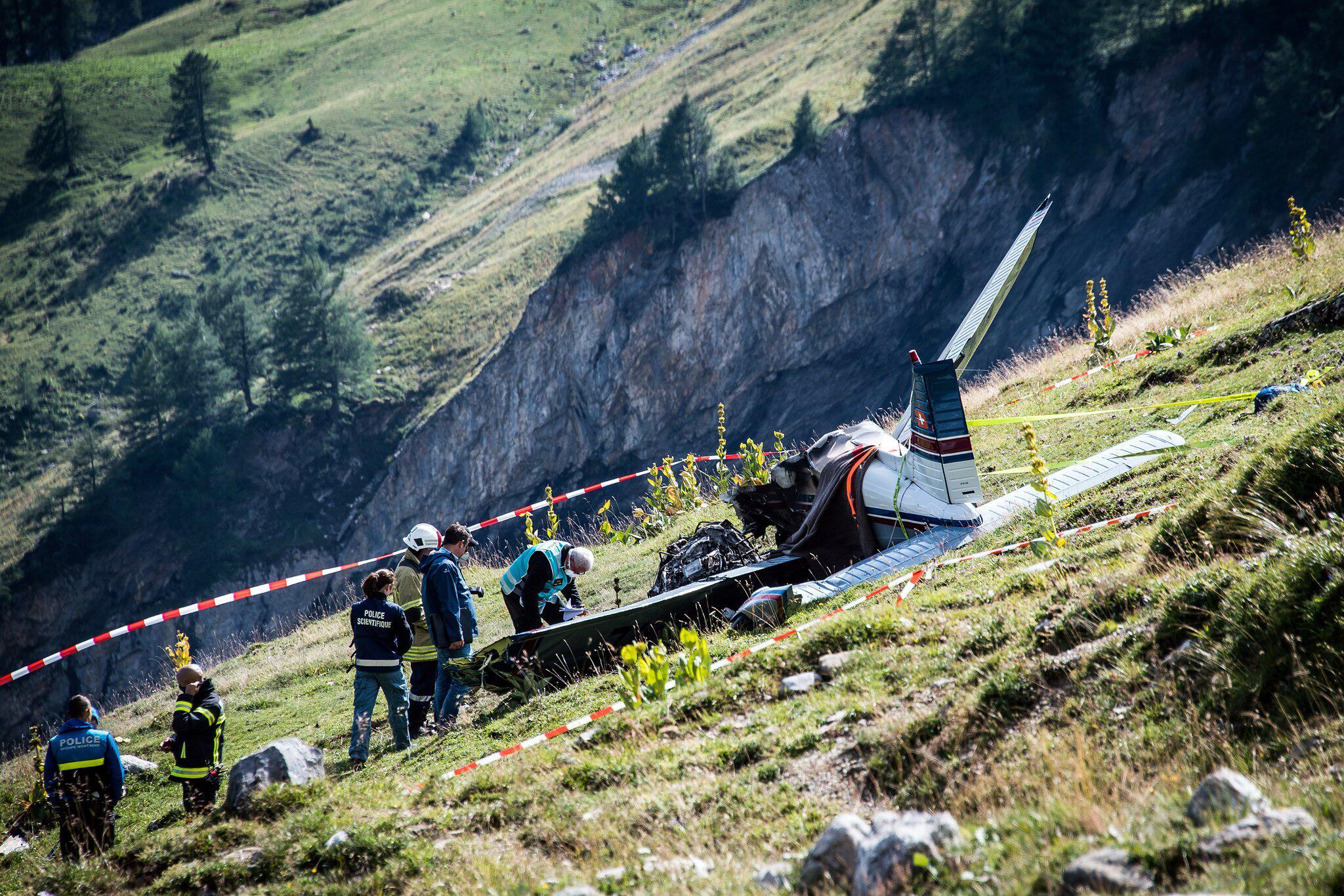 Bild zu Kleinflugzeug in der Schweiz abgestürzt
