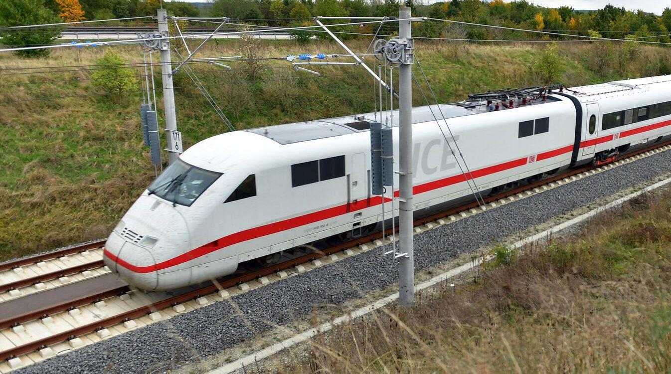Bild zu Testfahrt ICE-Sprinter auf Neubaustrecke Erfurt - Bamberg