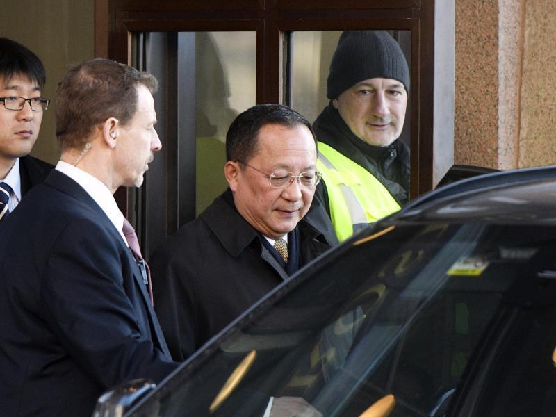 Bild zu Nordkoreanischer Aussenminister in Schweden