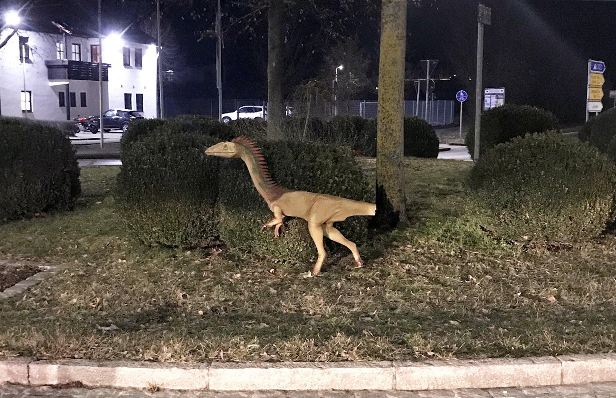 Bild zu Dinosaurier, Klau, Polizei, Kreisverkehr, Denkendorf, Coelophysis