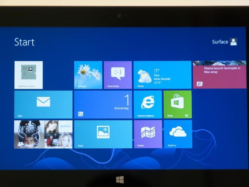 Bild zu Tablet PC mit Windows 8