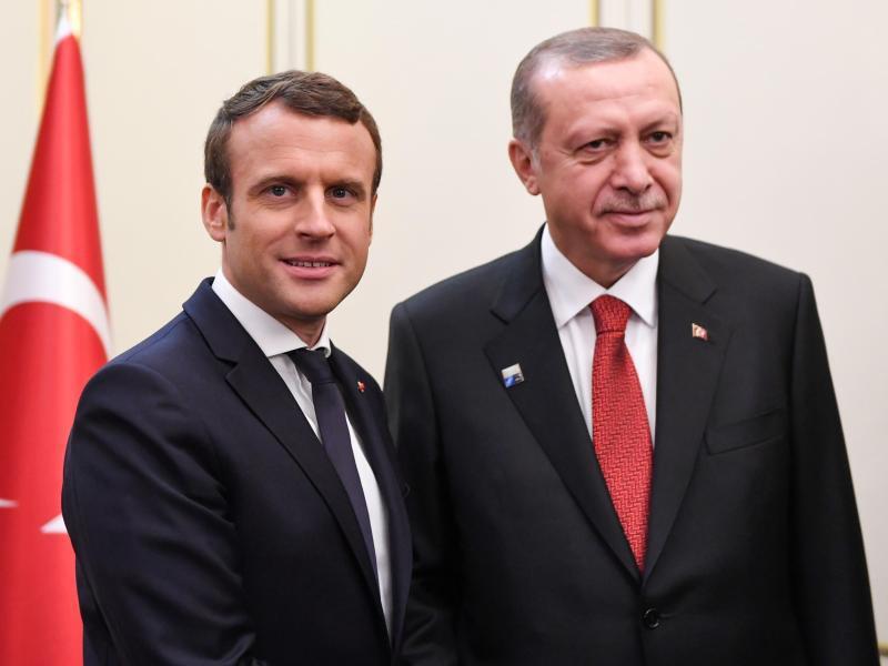 Bild zu Emmanuel Macron und Recep Tayyip Erdogan