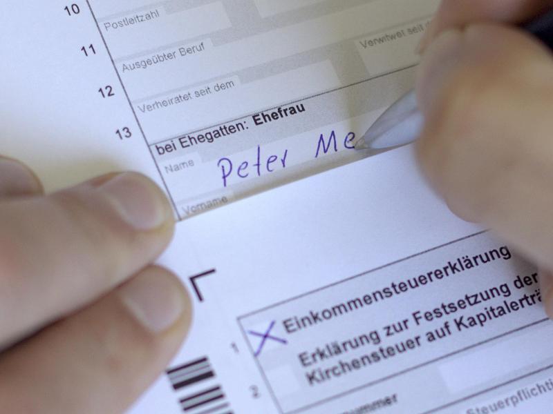 Bild zu Einkommensteuerformular