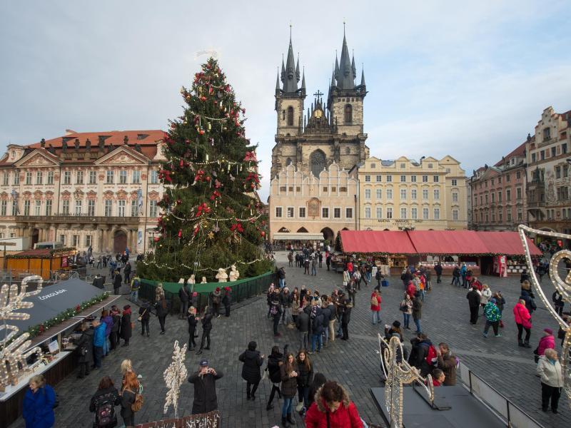 Bild zu Weihnachtsmarkt in Prag
