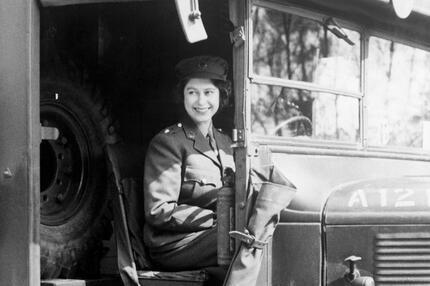 Elizabeth II. LKW-Fahrerin