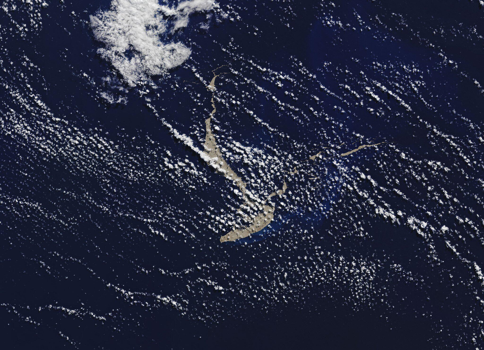Bild zu Bimssteinfloss treibt im tropischen Pazifik