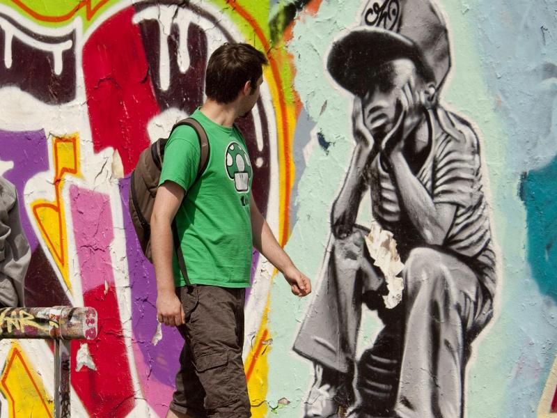 Bild zu Graffiti im Berliner Mauerpark