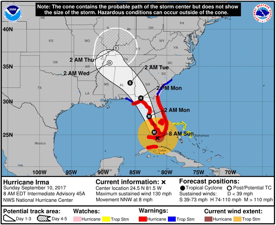 Bild zu Hurrika, Irma, Hurrikan Irma, Alabama, Florida