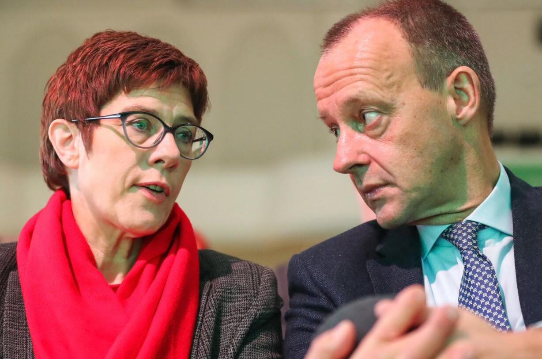 Bild zu Friedrich Merz und Annegret Kramp-Karrenbauer