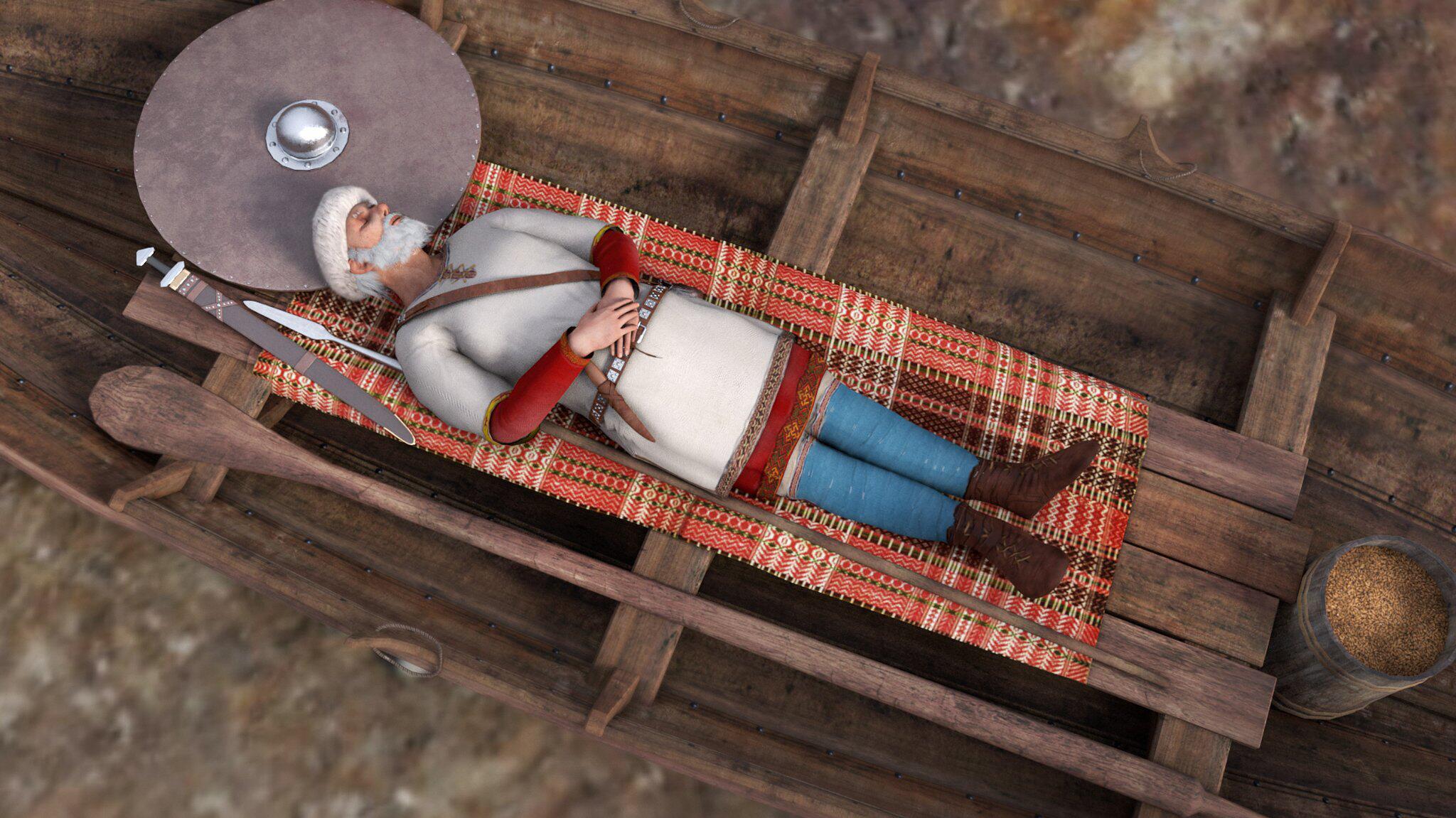 Bild zu Norwegen, Wikinger, Beerdigung, Grab, Bootsgrab, Mythos, Ritus, Ausgrabung, Forscher