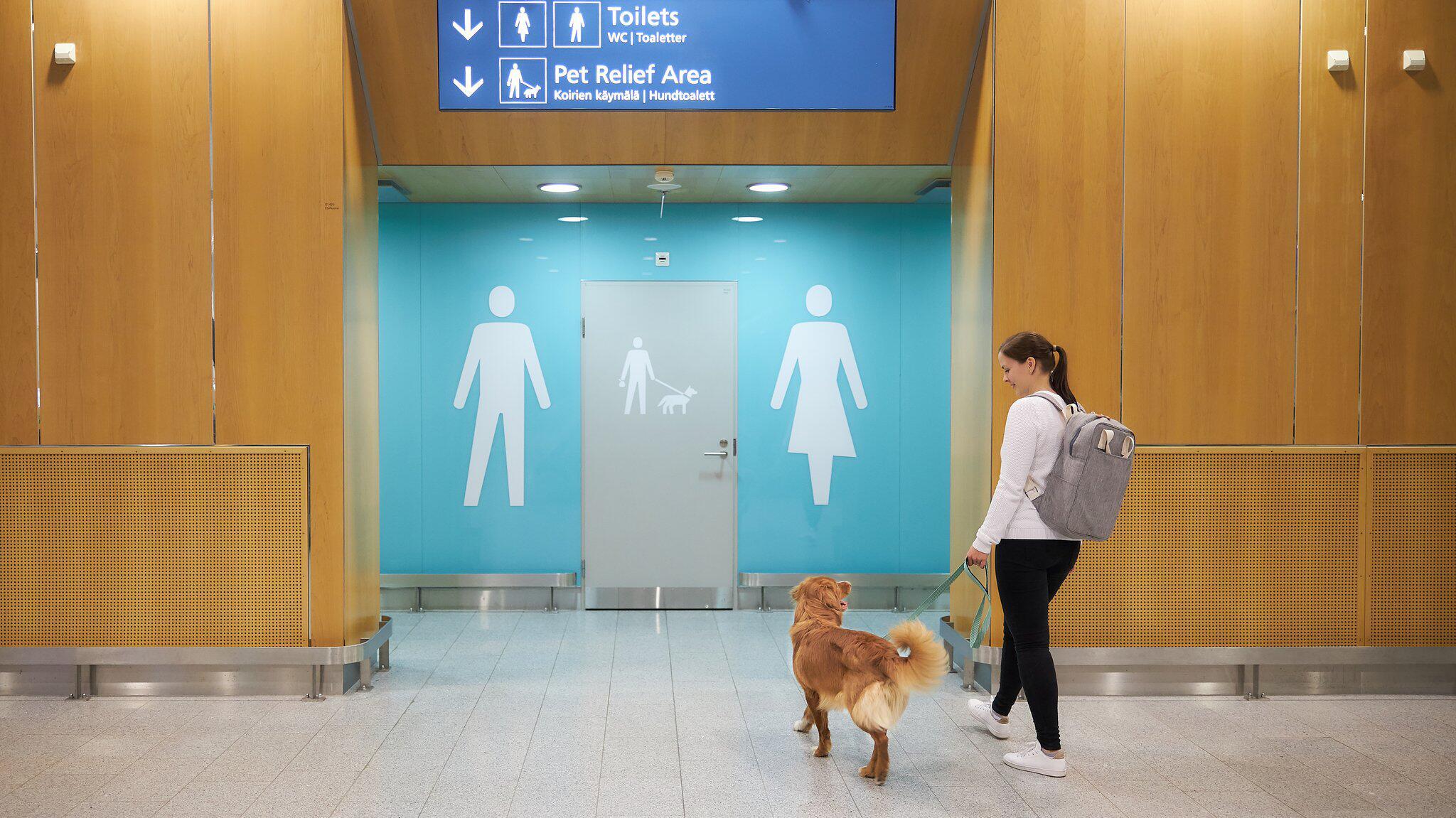Bild zu Helsinki führt Flughafentoiletten für Tiere ein