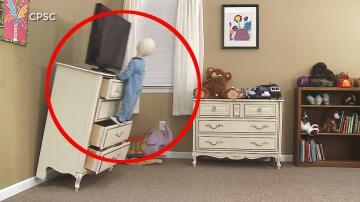 Bild zu Gefahr, ungesicherte Möbelstücke, Kinder
