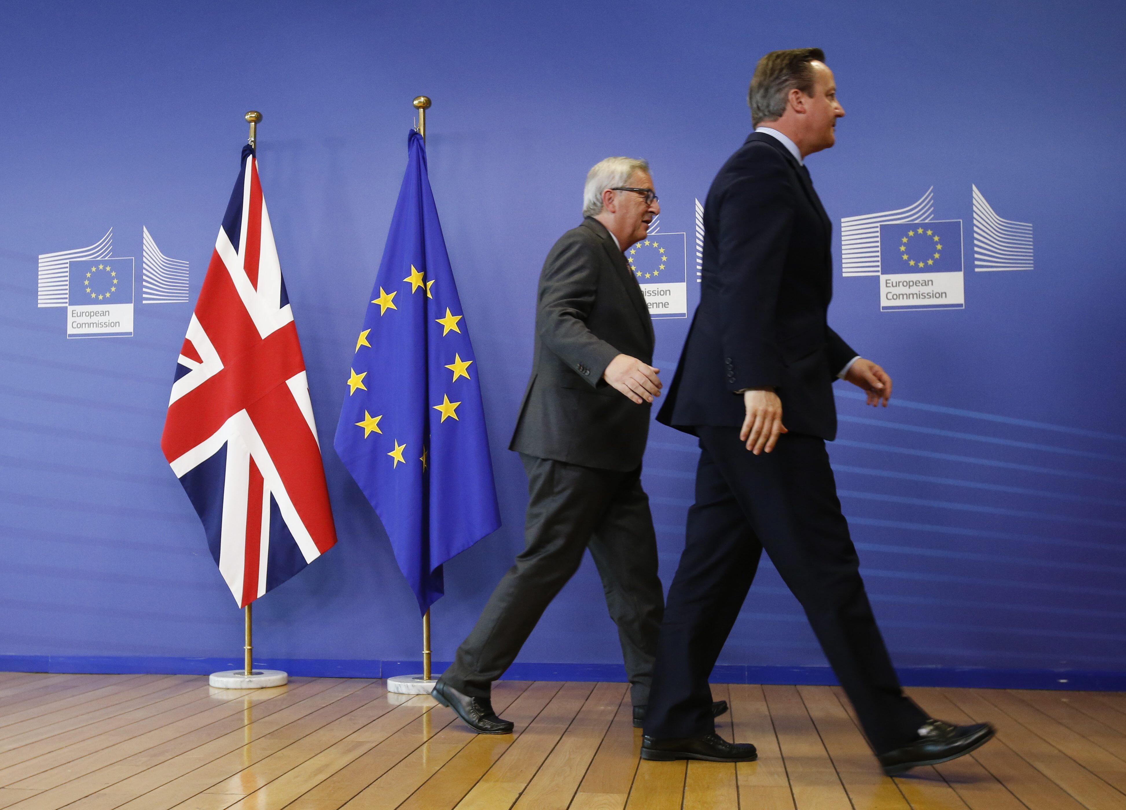 Bild zu Brexit, EU, Juncker, Cameron