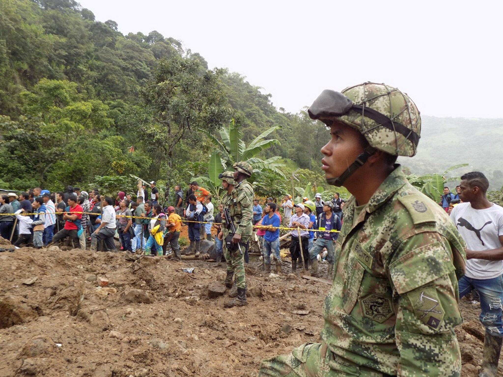 Bild zu Erdrutsch in Kolumbien