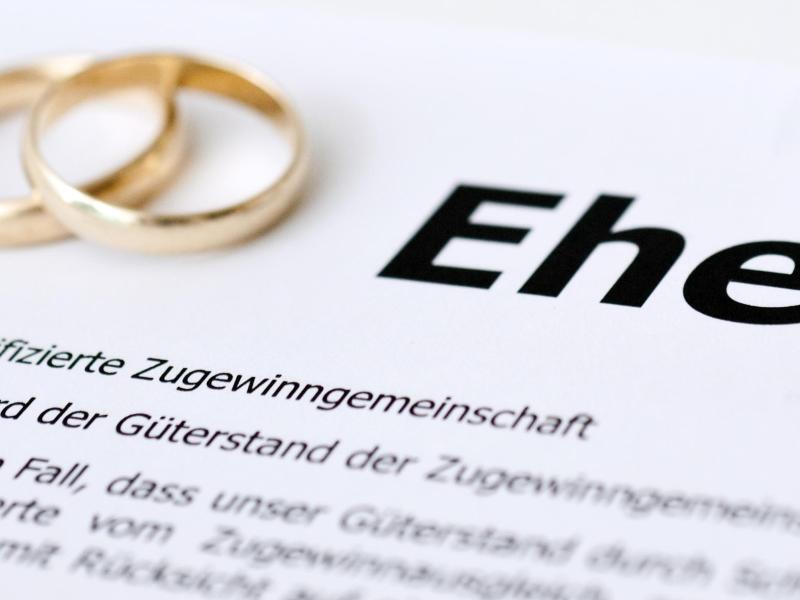 Bild zu Ehevertrag