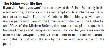 Bild zu Basel Tourismus, Info, Broschüre, Übersetzung, fehler